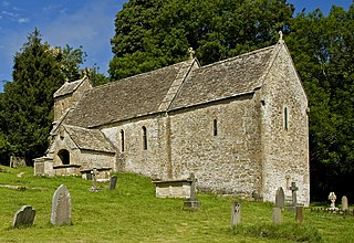 St Michaels Church, Duntisbourne Rouse Church in Gloucestershire, England