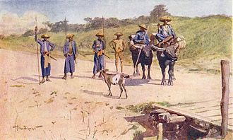 Dusun people - Illustration of Dusun traders by Allan Stewart in British North Borneo, by L. W. W. Gudgeon.
