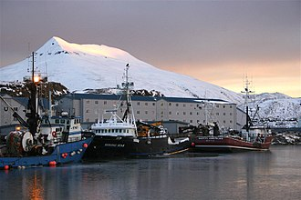Crab fisheries - Crab boats moored in Dutch Harbor, Alaska