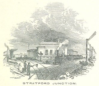 Stratford station - Stratford Junction pictured in 1851
