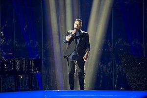 Norway in the Eurovision Song Contest 2014 - Carl Espen at the second semi-final dress rehearsal