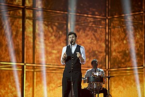 Switzerland in the Eurovision Song Contest 2014 - Sebalter at the second semi-final dress rehearsal
