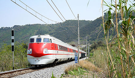The ETR 450 was the first production Pendolino train, in service from 1988 to 2015. ETR450.06.jpg