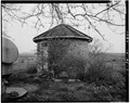 EXTERIOR, EAST SIDE - Merit-Tandy Farmstead, Ice Storage House, RR 1,Box 225, Patriot, Switzerland County, IN HABS IND,78-PAT.V,1A-1.tif