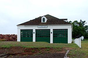 Eagle Harbor Coast Guard Station Boathouse - Image: Eagle Harbor Coast Guard Station Boathouse C