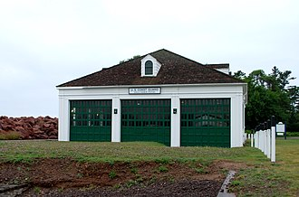 Eagle Harbor Coast Guard Station Boathouse - Image: Eagle Harbor Coast Guard Station Boathouse C