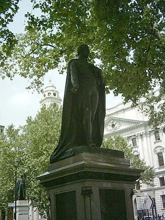 Edward Smith-Stanley, 14th Earl of Derby - Statue in Parliament Square, London