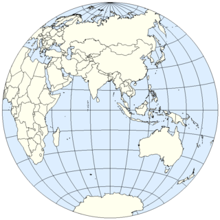 Eastern Hemisphere half of the Earth that is east of the prime meridian and west of 180° longitude