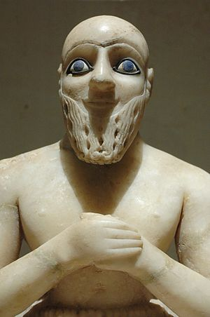 Mari, Syria -  Statue of Ebih-Il. (25th century BC)