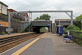 Eccles railway station - Eccles railway station in 2014.