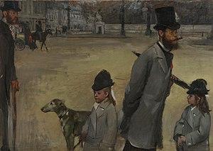 Place de la Concorde, 1875, oil on canvas, by Edgar Degas, Hermitage Museum, St. Petersburg