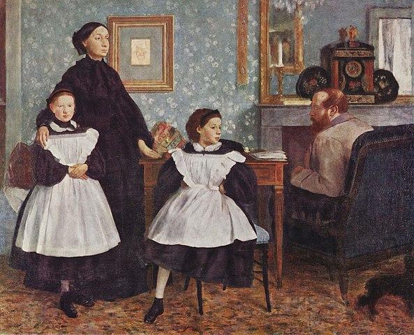 Э. Дега. Семейство Беллели. 1860—1862. Музей Орсе, Париж.
