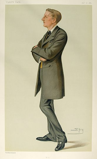 """Edric Gifford, 3rd Baron Gifford - """"V.C."""". Caricature by Spy published in ''Vanity Fair'' in 1880."""