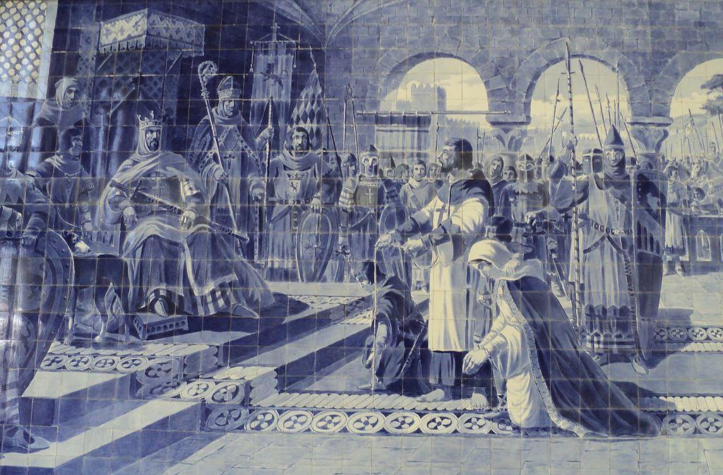 Egas Moniz apresentando-se ao rei de Leão Afonso VII