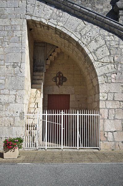 Eglise de Fontanes - 20140926 - Détail du fronton