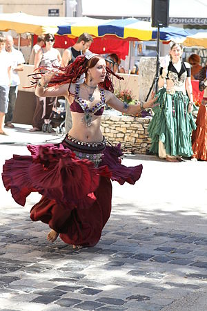 Tribal Fusion - Balkys, a dancer performing in France