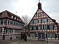 Ehemaliges Rathaus, Neu erbaut 1738, Fachwerkbau in Eck- und Hanglage, kleiner Dachreiter, 1923 Sichtfachwerk, 1960 Torbogendurchfahrt, 1993 Stadtmuseum - panoramio.jpg