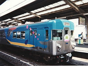 TRTA 3000 series - Set 3055 in special whale livery on a farewell run in July 1994