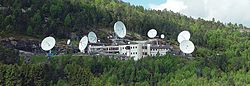 View of the satellite station in Eik