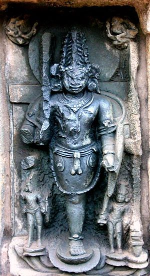 Ekapada - Ekapada Bhairava in Chausathi Jogini Temple, Hirapur, Odisha