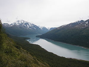 Chugach State Park - Eklutna Lake and Bold Peak in Chugach State Park