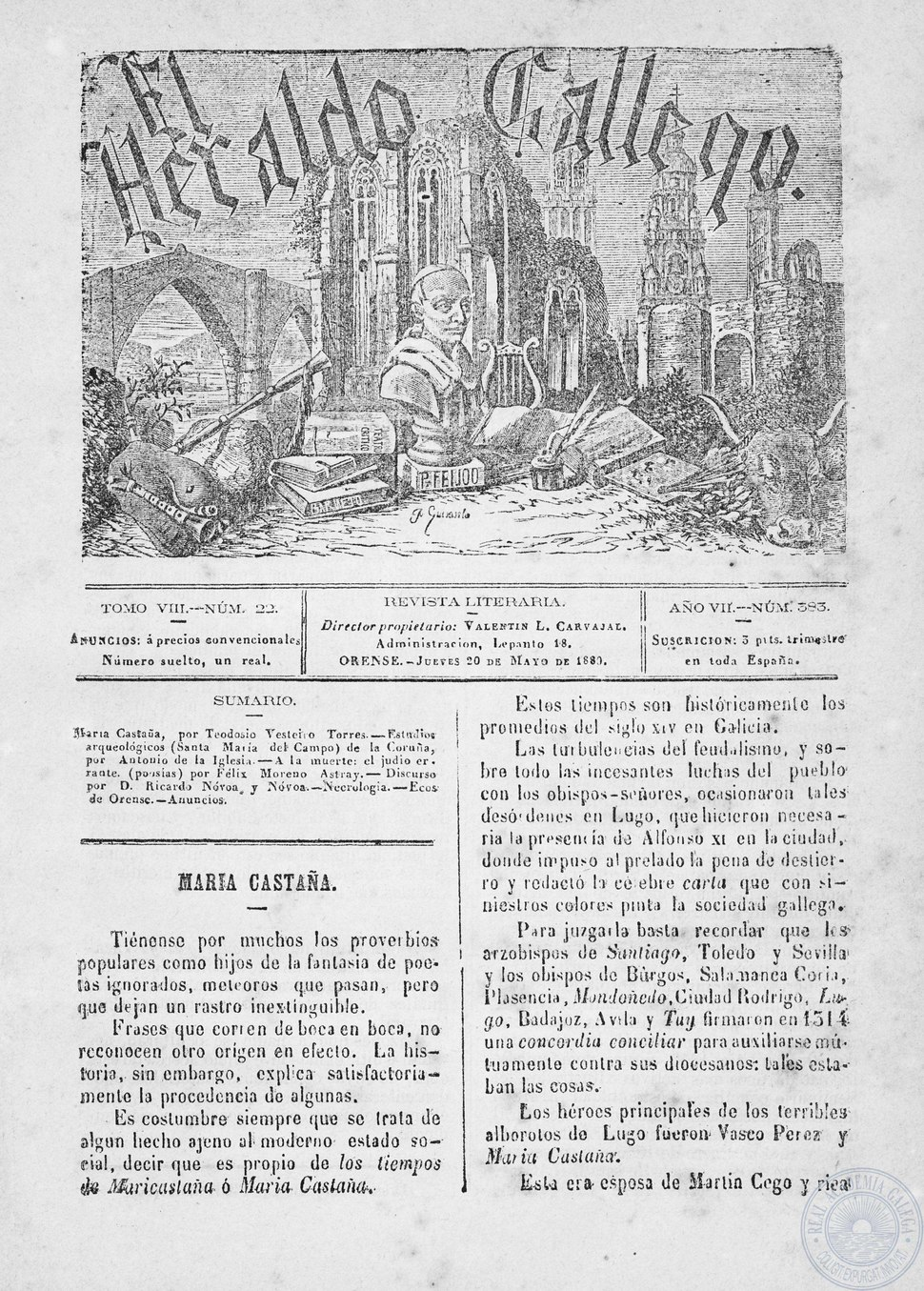 El Heraldo Gallego, n.º 383, 1880 pdf