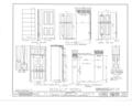 El Palacio Real de Santa Fe, Palace Avenue, Santa Fe, Santa Fe County, NM HABS NM,25-SANFE,2- (sheet 23 of 26).png