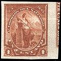 El Salvador 1894 1c Seebeck essay orange brown.jpg