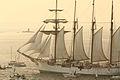 El buque escuela Juan Sebastián Elcano partiendo de la Bahía de Bayona 01.jpg