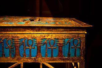 Yuya - An elaborate box from Yuya and Tjuyu's tomb bearing Amenhotep III's cartouche.