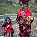 Elderly Kashmiri women and her granddaughter .jpg