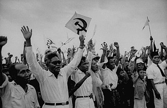 Communist Party of Indonesia - Supporters of PKI rallying in the campaign for the general election in 1955.