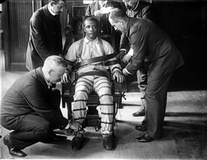Perfect A Prisoner Being Strapped To The Electric Chair At Sing Sing Prison Around  1900