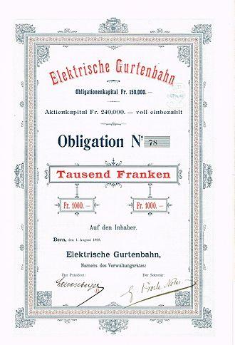 Gurten Funicular - Image: Elektrische Gurtenbahn 1899