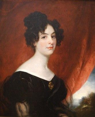 James Stirling (Royal Navy officer) - Ellen Stirling (Mangles), 1828, by Thomas Phillips, National Portrait Gallery (Australia), Canberra