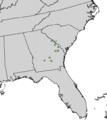 Elliottia racemosa range map.png