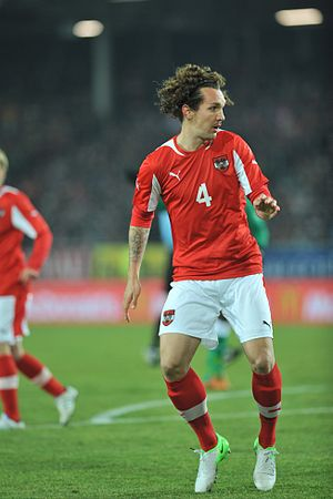 Emanuel Pogatetz - Pogatetz playing for Austria in 2012.