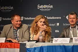 Emmelie de Forest, ESC2013 press conference 06.jpg
