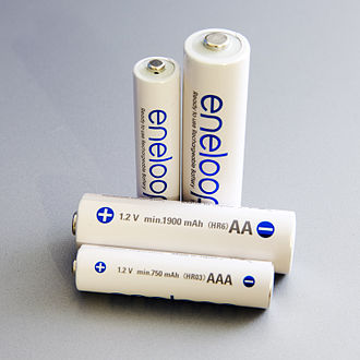 AA battery - Panasonic Eneloop 1.2 volt NiMH rechargeable batteries in AA and AAA