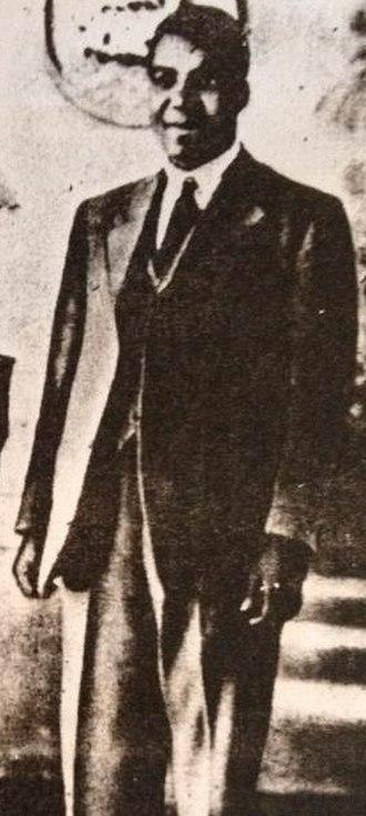 Engenas Lekganyane - the only known portrait of Engenas Lekganyane