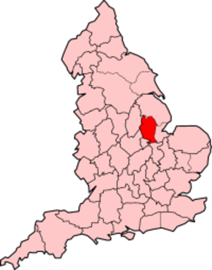 Kesteven County Council election, 1949 - The administrative county of Kesteven (1889–1974), shown within England.