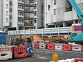 Entrance and exit D2 of Whampoa Station under construction in February 2015.jpg