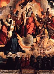 The Holy Trinity with Angels, Saints, and donor family Bubenhofen (before 1523)