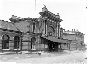 Leiden Centraal railway station - Central Station, end of the 19th century.