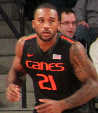 Erik Swoope - Swoope playing basketball at the University of Miami in 2013