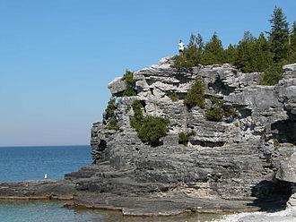 Bruce Peninsula - The Niagara Escarpment in the Bruce Peninsula National Park.