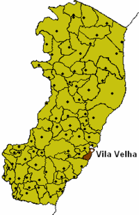 Espirito Santo Map with Vila Velha Municipality Highlighted.PNG