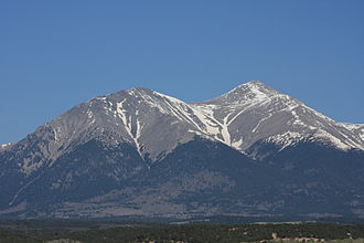 Mount Shavano - Esprit Point (left) and Mt. Shavano from the southeast