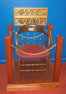 Essex Evans' Chair in the Toowoomba City Library.