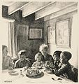 Evacuees in a Cottage at Cookham children in Wartime - Five lithographs by Ethel Gabain Art.IWMARTLD426.jpg